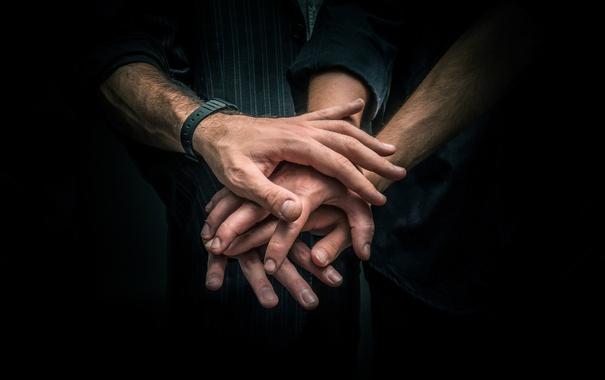 Фото обои team, friendship, hands, fingers, union, solidarity