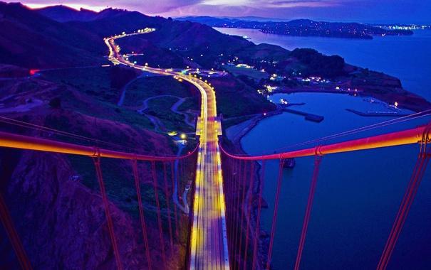 Фото обои мост, Калифорния, Золотые Ворота, США, Марин Каунти