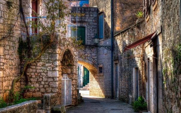 Фото обои дом, HDR, Хорватия, Stari Grad