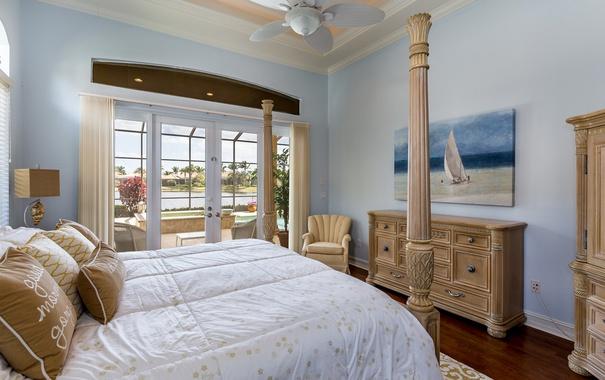 Фото обои дизайн, стиль, кровать, картина, подушки, окно, спальня