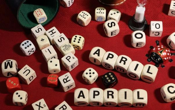 Фото обои игра, кости, April-April
