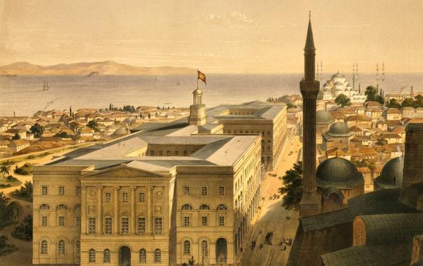 Фото обои пейзаж, город, дома, Стамбул, Турция