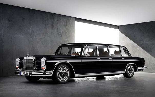 Фото обои Mercedes-Benz, мерседес, лимузин, 1963, 600, W100