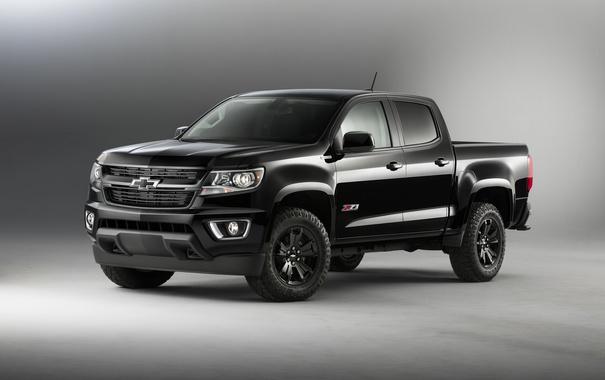 Фото обои пикап, шевроле, черный, Colorado, Chevrolet, колорадо