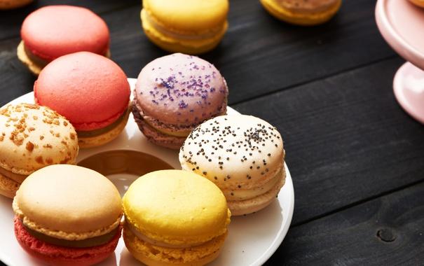 Фото обои colorful, печенье, десерт, sweet, dessert, cookies, macaron