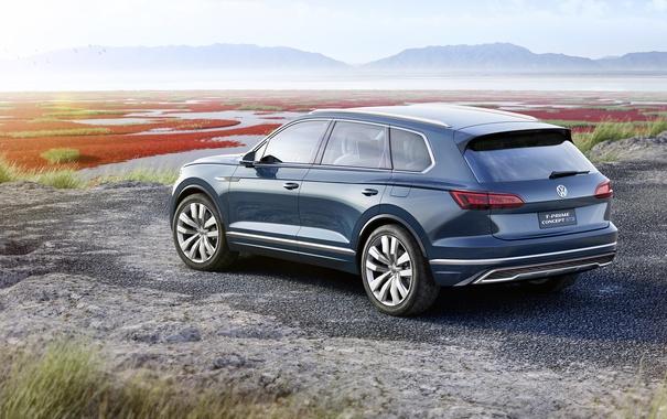 Фото обои Concept, Volkswagen, концепт, фольксваген, кроссовер, GTE, T-Prime