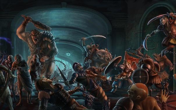 Фото обои war, fight, epica, catacombs