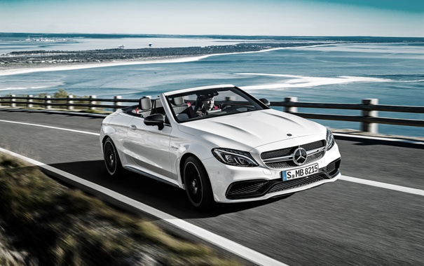 Фото обои Mercedes-Benz, кабриолет, мерседес, AMG, амг, Cabriolet, C-Class