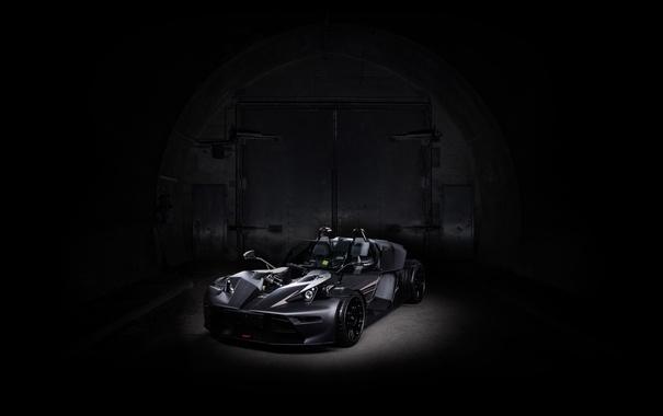 Фото обои черный, спорткар, кабриолет, KTM, Black, X-Bow
