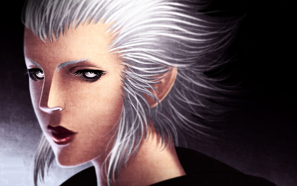 Фото обои лицо, фантастика, Final Fantasy, art, Merlwyb Bloefhiswyn, Merlwyb