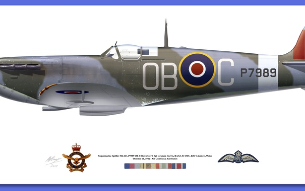 Фото обои signs, medals, spitfire mk vb