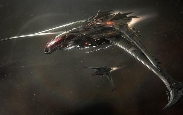 Фото обои космос, полет, Star Citizen, Esperia Vanduul Blade