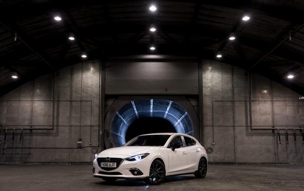 Фото обои белая, седан, Mazda 3, мазда, Sedan