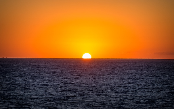 Фото обои море, небо, солнце, рассвет