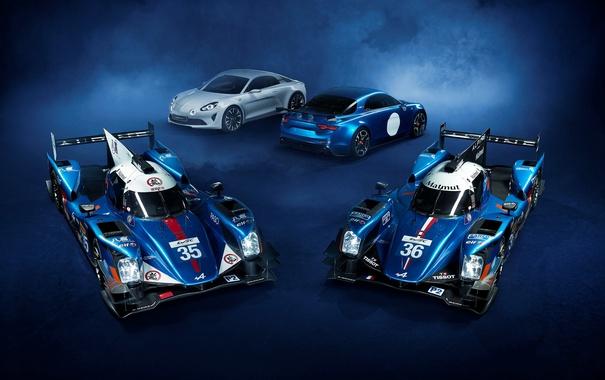 Фото обои фон, суперкар, Nissan, ниссан, Alpine, LMP, A460