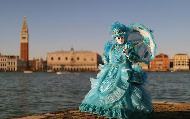 Фото обои город, маска, Carnevale di Venezia