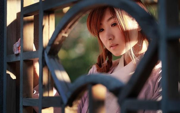 Фото обои грусть, лето, лицо, азиатка