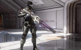 Обои оружие, шапка, солдат, necris, unreal tournament