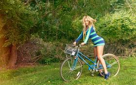 Картинка девушка, велосипед, блондинка, красавица, черная, певица, beyonce