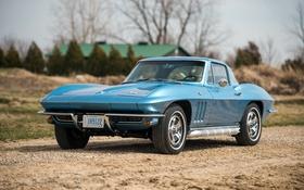 Картинка Corvette, Chevrolet, шевроле, 1966, Stingray, корветт