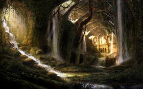 Обои interior, ruins, Castle