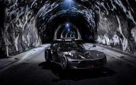 Картинка черный, спорткар, кабриолет, KTM, Black, X-Bow