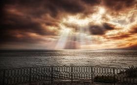 Картинка море, небо, свет