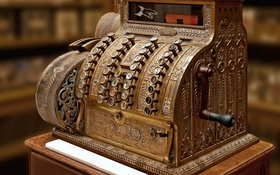 Обои metal, design, old, Machine register