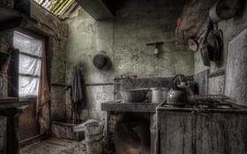 Обои комната, окно, кухня