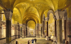 Картинка интерьер, мечеть, музей, Стамбул, Турция, Собор Святой Софии, Айия-Софья
