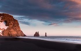 Обои берег, скалы, море