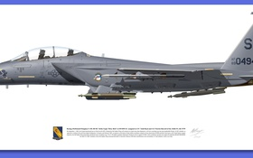 Обои f 15, gray, Aircraft illustration