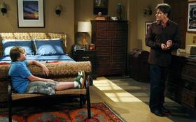 Обои сериал, актеры, персонажи, Чарли Шин, Джейк Харпер, Чарли Харпер, Два с половиной человека