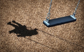 Обои park, shadow, empty, hammock, missing children