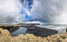 Обои море, берег, Исландия