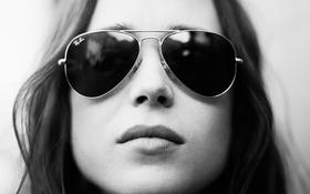 Картинка девушка, лицо, красота, актриса, очки, ellen page
