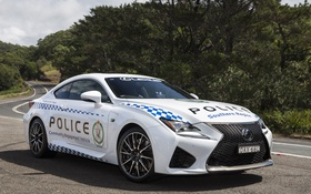 Обои белый, Lexus, Police, лексус, RC F