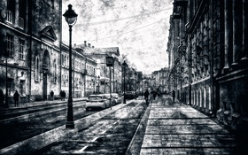 Картинка Москва, прохожие, Ники́тская улица