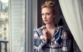 Обои Lods Frank, Window, Eva, Pretty, Fashion, Face, Beauty