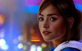Обои девушка, лицо, актриса, арт, Doctor Who, Clara Oswald