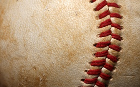 Обои leather, ball, baseball, thread, softball