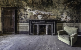 Обои фон, комната, кресло