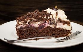 Обои торт, крем, шоколад