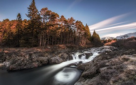 Обои Scotland, Waterfall, River Orchy