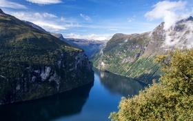 Обои река, скалы, Норвегия, Mollsbygda