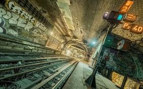 Обои город, метро, станция
