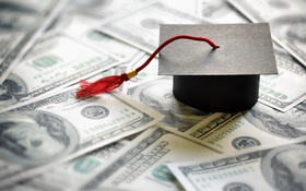 Обои money, education, college expenses, graduation