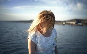 Картинка девушка, ветер, Bad sector