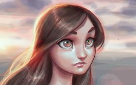 Обои девушка, арт, tifa lockhart, лицо, Final Fantasy, глаза