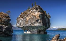 Обои скала, океан, Патагония, LANDSCAPE, PATAGONIA